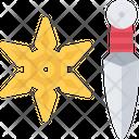 Ninja Weapon Weapon Kunai Icon
