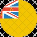 Niue Flag World Icon