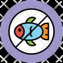 No Fish Seafood Icon