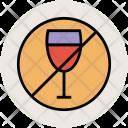 No Wine Alcohol Icon