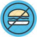 No Fast Food Icon
