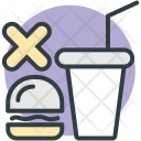 No Junk Food Icon