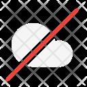 No Cloud Network Icon