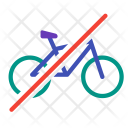 No Bicycle Vehicle Icon