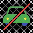 No Car Taxi Icon