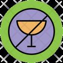 No Wine Drink Icon