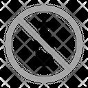 No Alcohol Warning Prohibition Icon