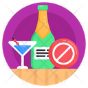 Avoid Alcohol No Alcohol No Drink Icon