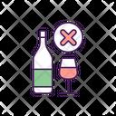 Alcohol Forbidden Drink Icon