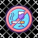 No Alcohol Cigarettes Icon