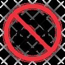 No Animals Prohibition Forbidden Icon