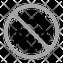 No Animals Warning Prohibition Icon