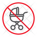 No baby carriage Icon