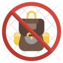 No Backpack Icon