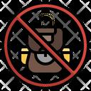 No Backpack No Bag Forbidden Icon