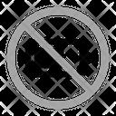No Battery Warning Prohibition Icon