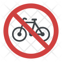 No Bicycle Bike Icon