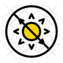 Stop Block Sun Icon