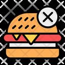 No Junk Food No Burger No Fast Food Icon