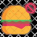 No Burger Icon