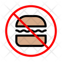 Fastfood Burger Banned Icon