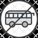 No Bus Icon
