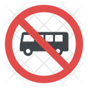 No Buses Icon