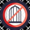 No Cage No Caging Animal Safety Icon