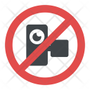 No Camera Sign Icon
