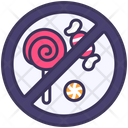 Candy Prohibited Sign Icon
