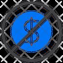 No Cash Cashless Payment Icon