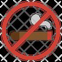 No Cigar No Tobacco Day Addiction Icon