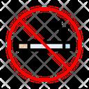 Smoking Cigarette Stop Icon