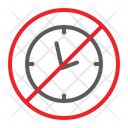No Clock Prohibited Icon