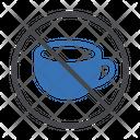 No Coffee Stop Block Icon