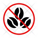 Beans Coffee Banned Icon