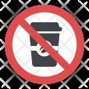 No Coffee Sign Icon