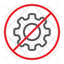 No Cogwheel Prohibited Icon