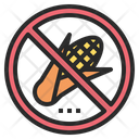 Corn No Prohibited Icon