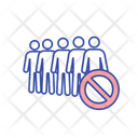 Avoid Crowd Stop Icon