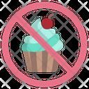 No Desert No Dessert No Sweet Icon