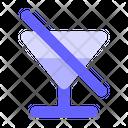 No Drink No Juice No Alcohol Icon