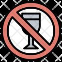 No Drink Alcoholic Signaling Icon