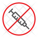 No Drug Syringe Icon