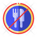 No Eating Eat Icon