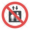 No Elevator Sign Icon