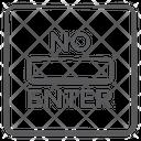 No Enter Icon