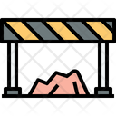 No Entry Barrier Construction Barrier Icon
