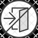 No Exit Door Icon