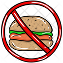 No Fast Food Stop Fast Food Fast Food Prohibition Icon